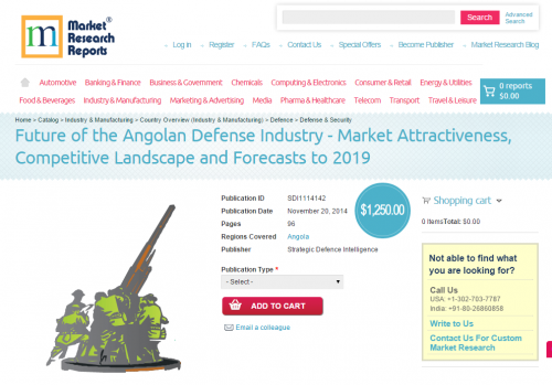 Future of the Angolan Defense Industry tp 2019'