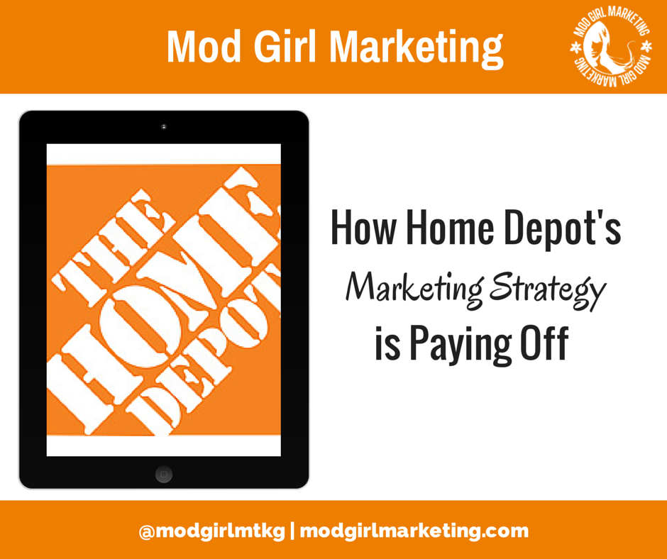 market segmentation and home depot Market segmentation attempts to isolate traits that distinguish a certain group from the overall this is an example of a demographic segmentation by home depot f.