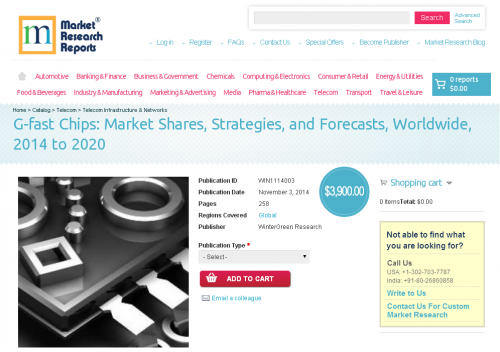 G-fast Chips Market Worldwide 2014 to 2020'