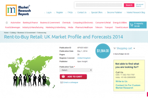 Rent-to-Buy Retail: UK Market Profile and Forecasts 2014'