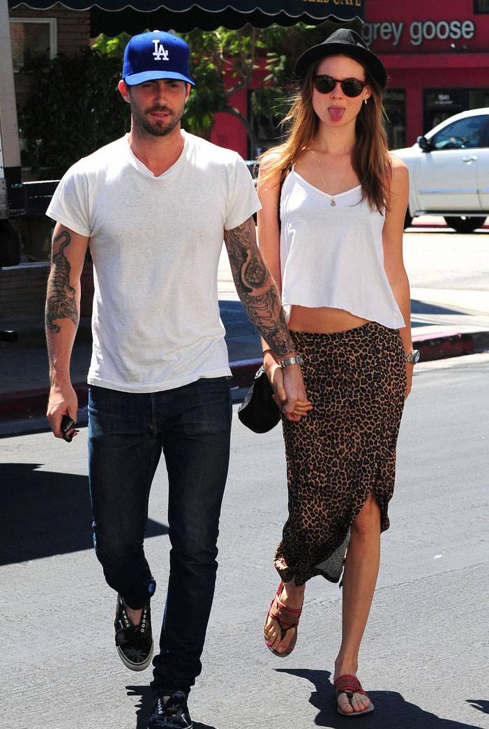 Adam Levine in Kelly Cole T-shirt