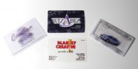 Wizabiz lights up your business cards using a Smartphone.