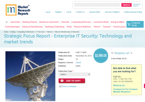 Enterprise IT Security: Technology and market trends'