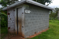 Original Pit Latrine for students.