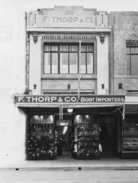 The iconic Thorps building, March 1932