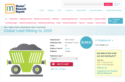 Global Lead Mining to 2020'