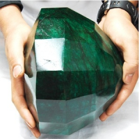 Worlds Biggest Round Emerald