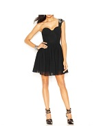 Guess One Shoulder Beaded Corset Dress