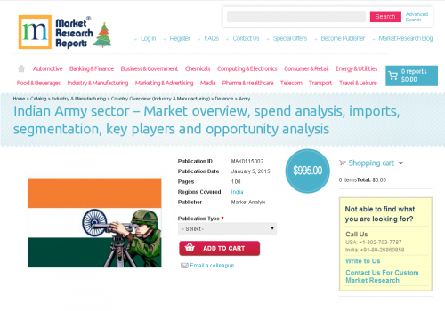 Indian Army sector – Market overview'