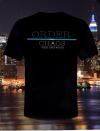 Midnight Platoon Clothing Blue Line Tee-Shirt Front'