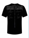 Midnight Platoon Clothing Blue Line Tee-Shirt Back View'