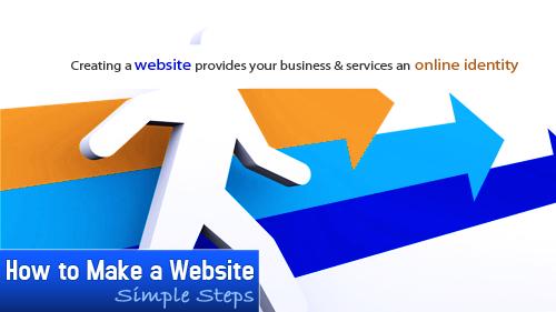 how to make a website'