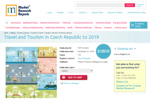 Travel and Tourism in Czech Republic to 2019'