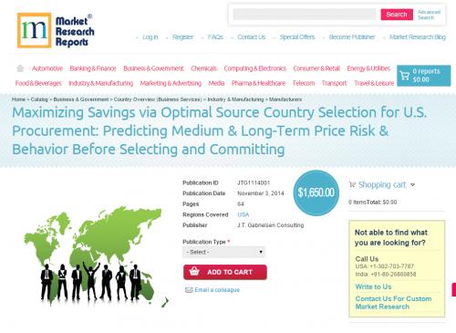 Maximizing Savings via Optimal Source Country Selection for'