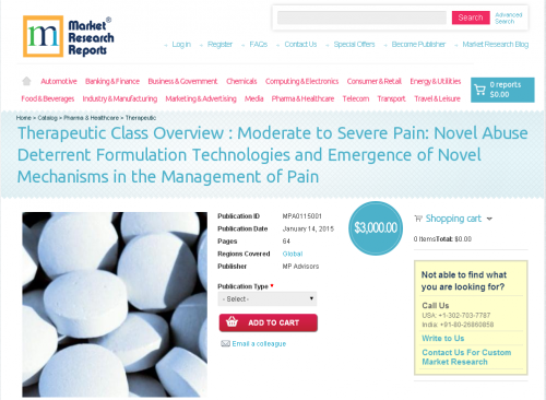 Moderate to Severe Pain: Novel Abuse Deterrent Formulation T'
