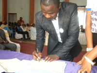 The CEO Signs the Widowhood Rites to Rights Agreement