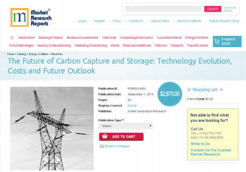 Carbon Capture and Storage: Technology Evolution, Costs and'