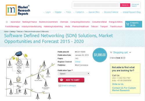 Software Defined Networking (SDN) Solutions, Market Opportun'