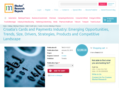 Croatia's Cards and Payments Industry: Emerging Opportu'