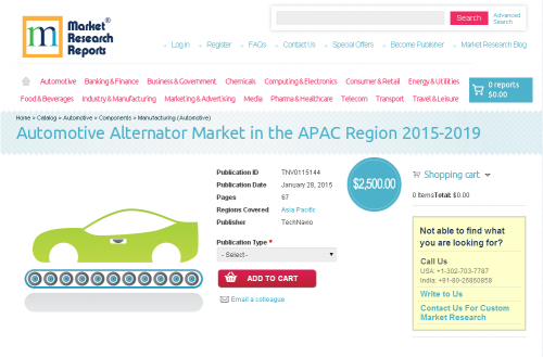 Automotive Alternator Market in the APAC Region 2015-2019'