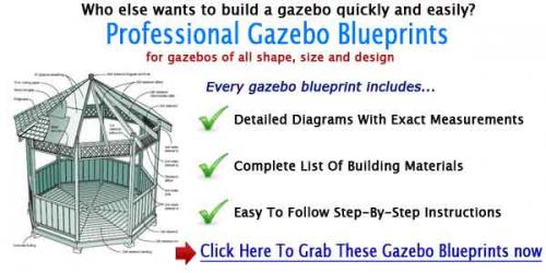 Professional Gazebo Building Plans'