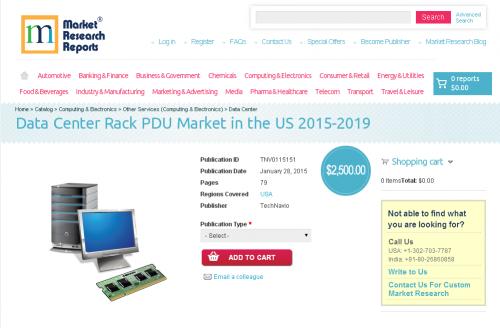 Data Center Rack PDU Market in the US 2015-2019'