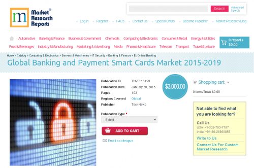 Global Banking and Payment Smart Cards Market 2015-2019'