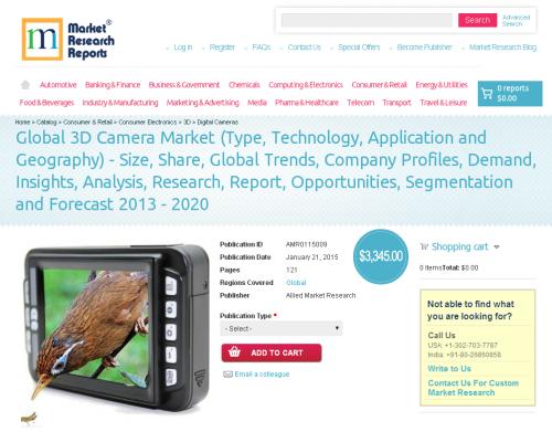 Global 3D Camera Market  2013 - 2020'