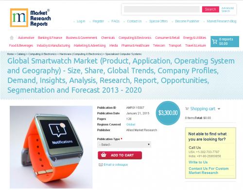 Global Smartwatch Market 2013 - 2020'