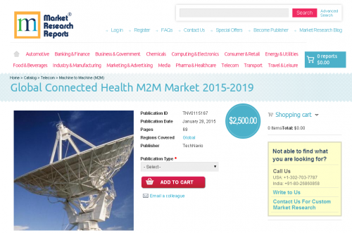 Global Connected Health M2M Market 2015 - 2019'