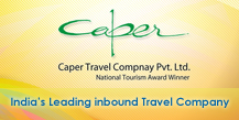 Logo for Caper Travel India'