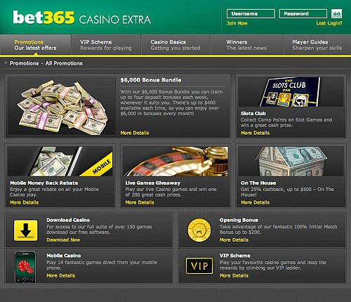 Bet365 casino promotions'