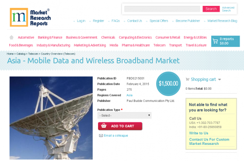 Asia - Mobile Data and Wireless Broadband Market'