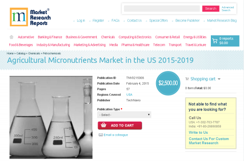 Agricultural Micronutrients Market in the US 2015-2019'