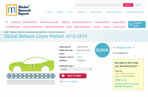 Global Release Liners Market 2015-2019'
