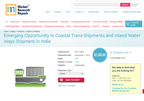 Emerging Opportunity in Coastal Trans-Shipments and Inland W'