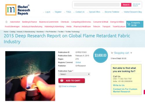 2015 Deep Research Report on Global Flame Retardant Fabric I'