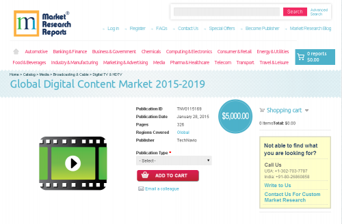 Global Digital Content Market 2015-2019'