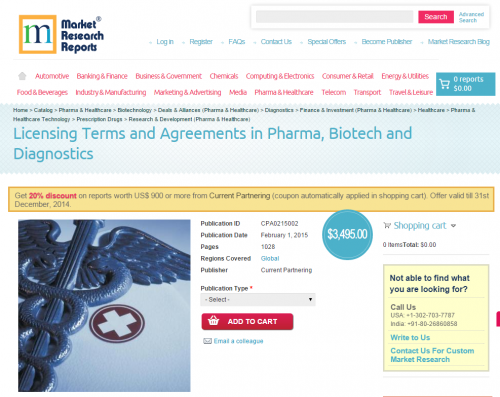 Licensing Terms and Agreements in Pharma, Biotech and Diagno'