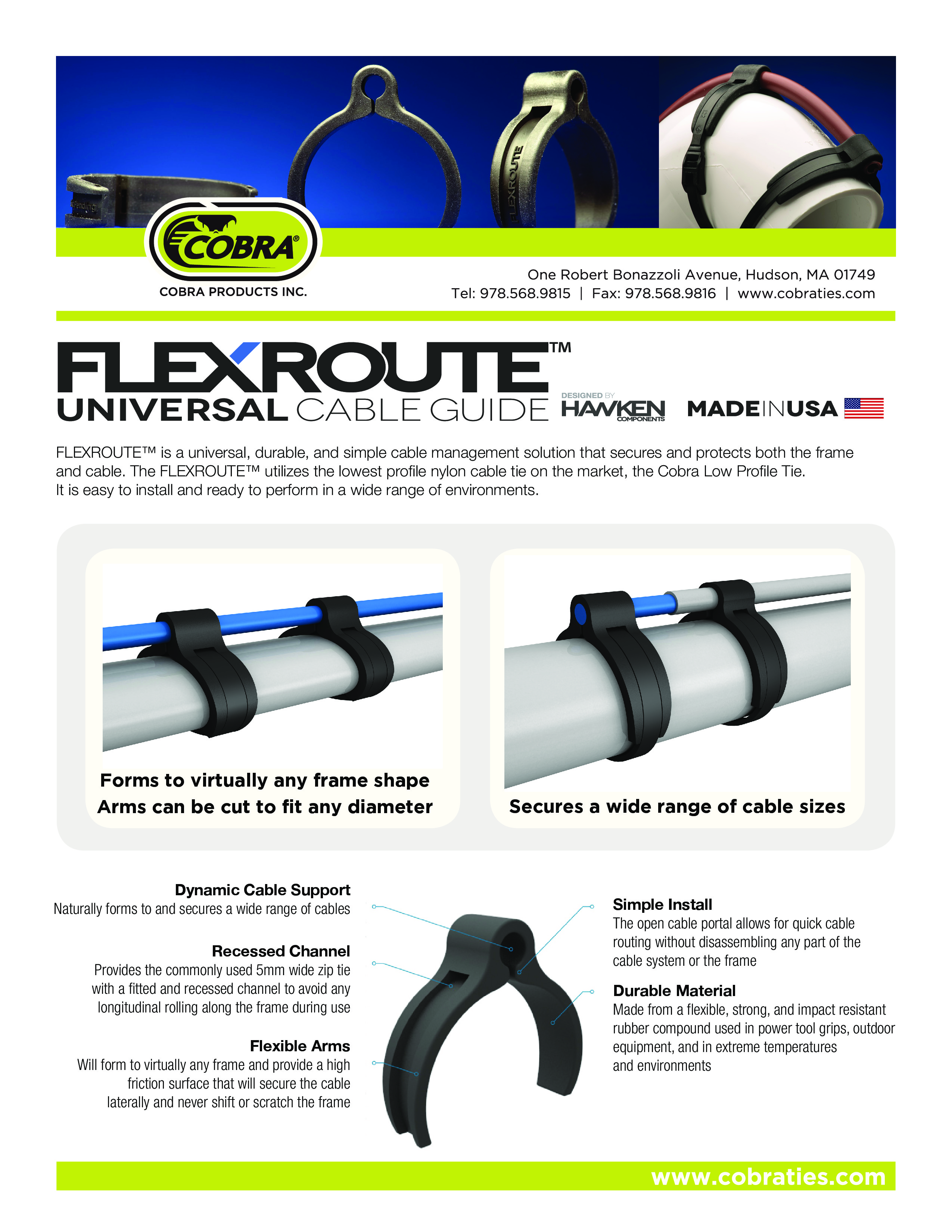 Cobra Products Introduces FLEXROUTE® Universal Cable Guide to ...