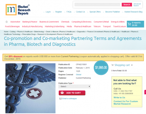 Co-promotion and Co-marketing Partnering Terms and Agreement'