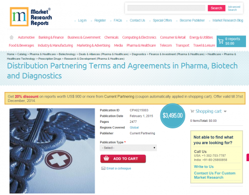 Distribution Partnering Terms and Agreements in Pharma, Biot'