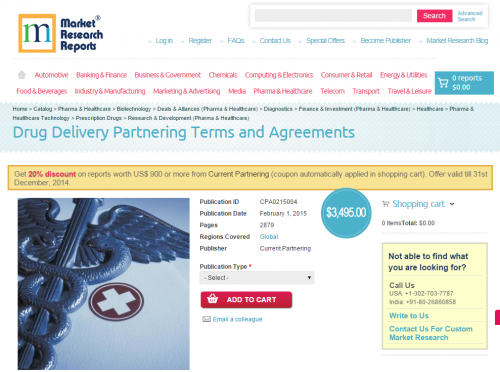 Drug Delivery Partnering Terms and Agreements'