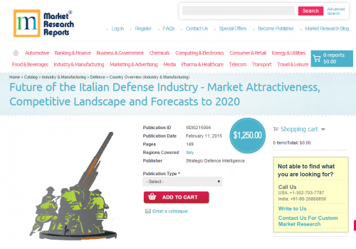 Italian Defense Industry to 2020'
