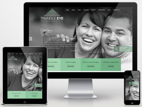 Triangle Eye Physicians Website'