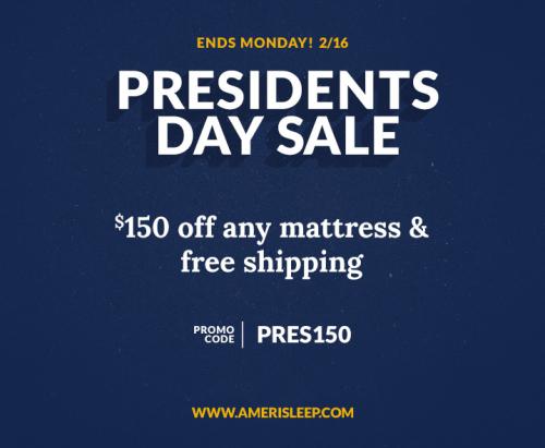 Amerisleep President's Day Memory Foam Mattress De'