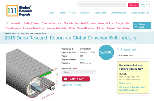 2015 Deep Research Report on Global Conveyor Belt Industry'