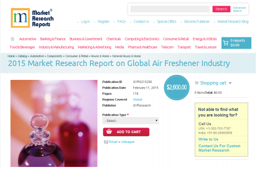 2015 Market Research Report on Global Air Freshener Industry'