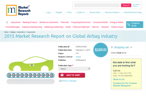2015 Market Research Report on Global Airbag Industry'