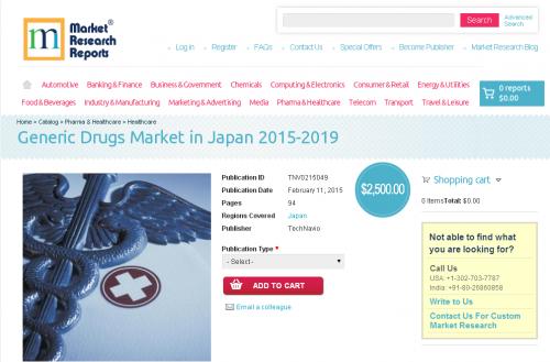Generic Drugs Market in Japan 2015-2019'